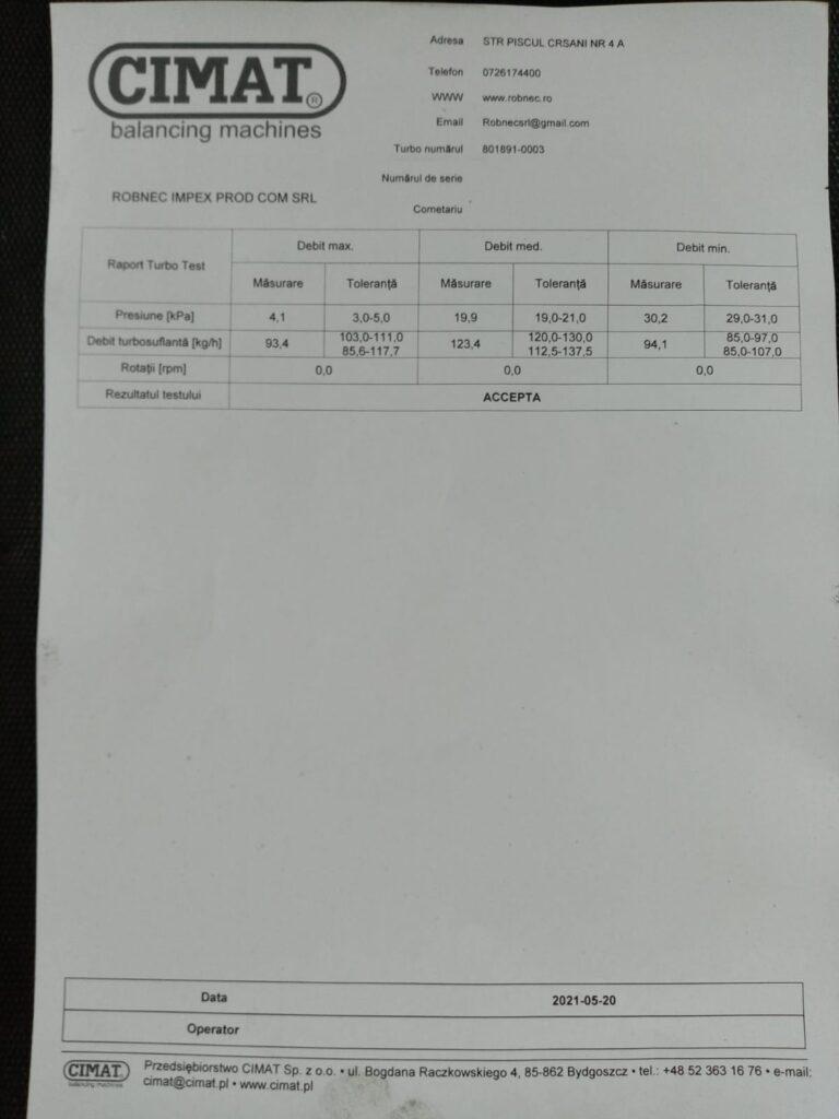Echilibrare Turbina Opel Zafira